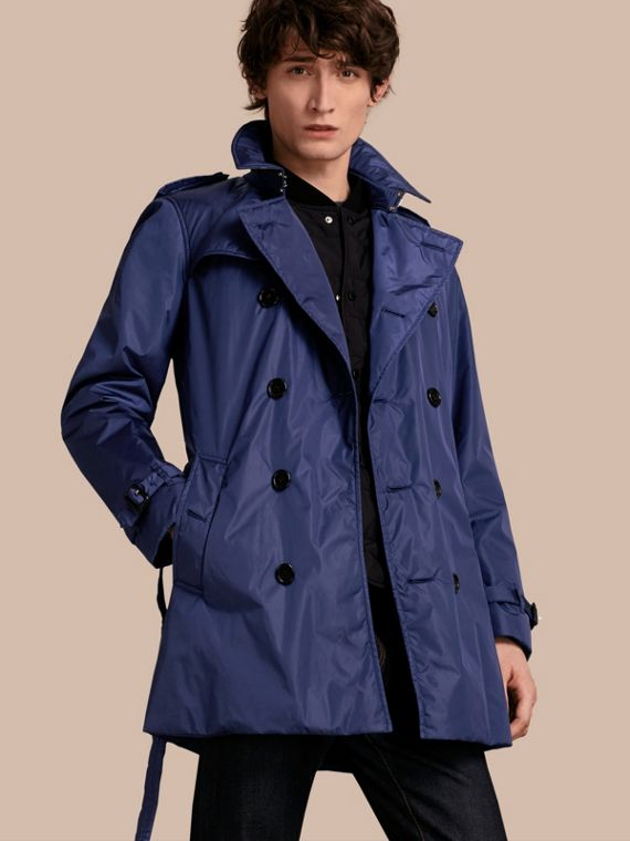 Showerproof Technical Trench Coat with Detachable Warmer