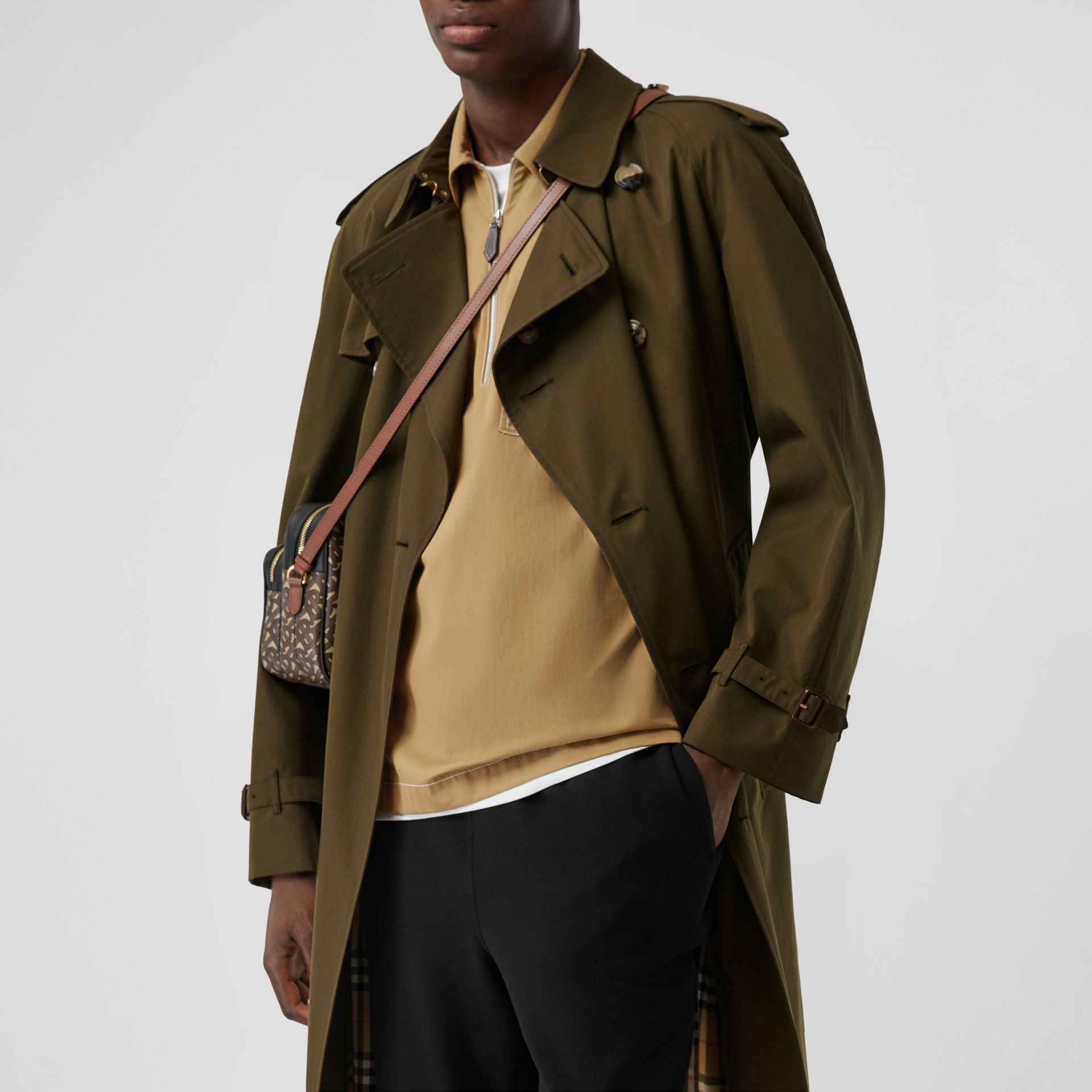 The Westminster Heritage Trench Coat in Dark Military Khaki - Men | Burberry Singapore - gallery image 9