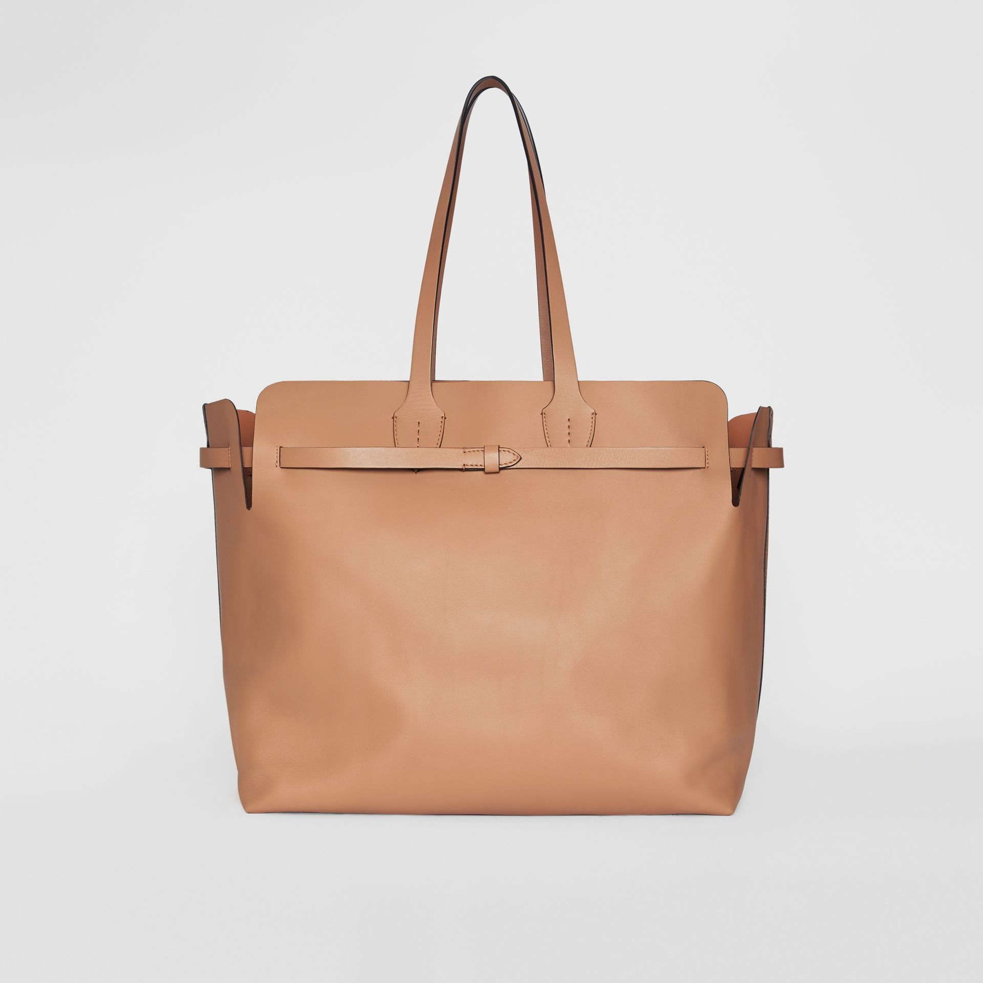 The Large Soft Leather Belt Bag in Light Camel - Women | Burberry United Kingdom - gallery image 7