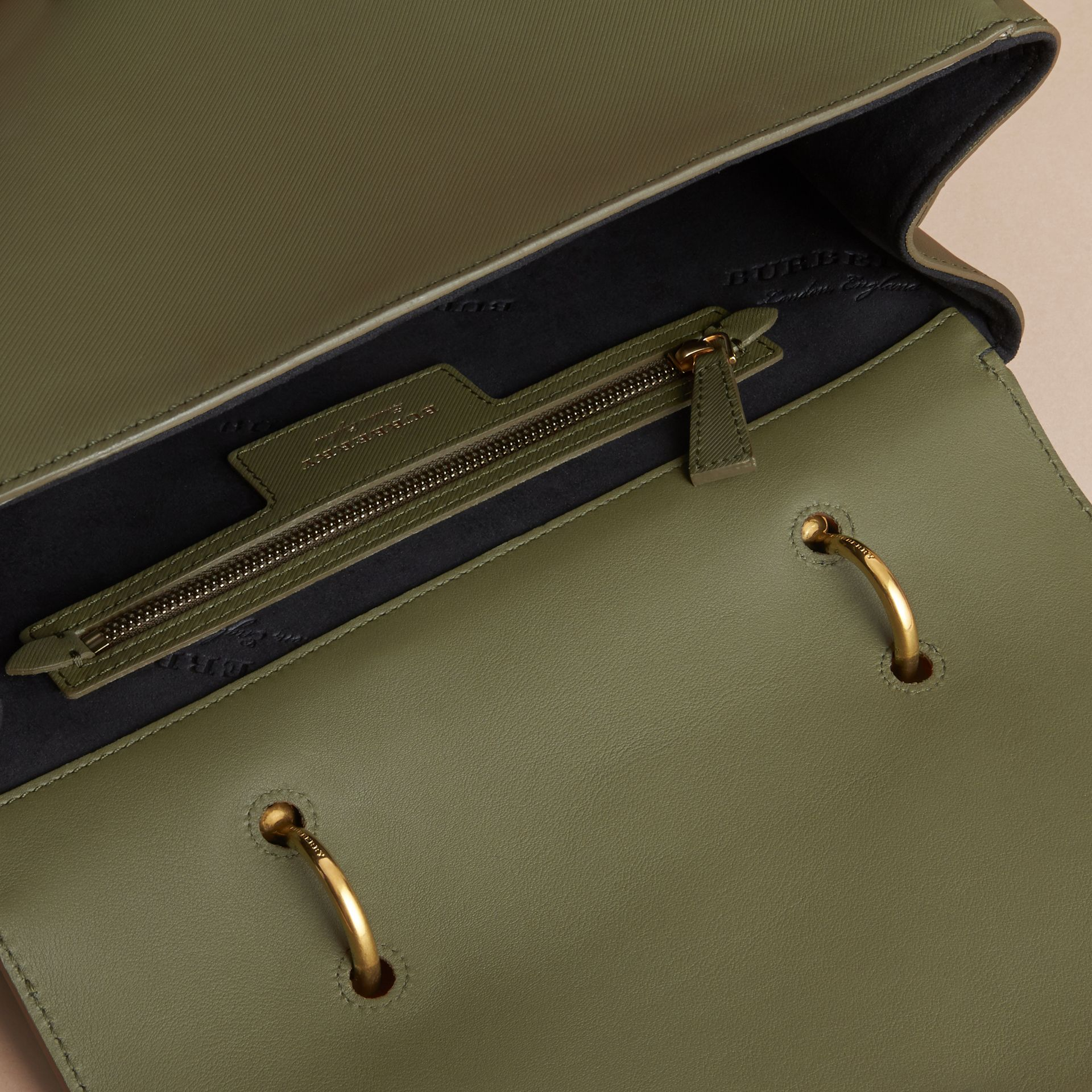 The Large DK88 Top Handle Bag in Moss Green - Women | Burberry - gallery image 4