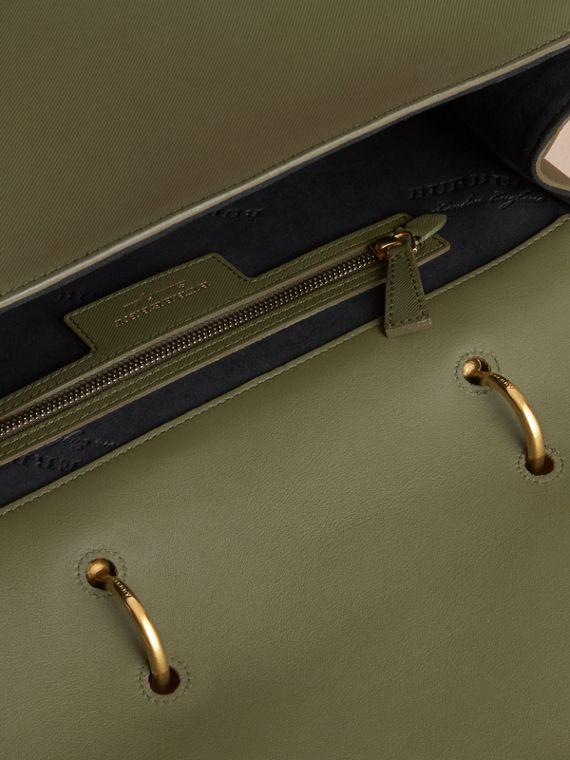 The Large DK88 Top Handle Bag in Moss Green - cell image 3