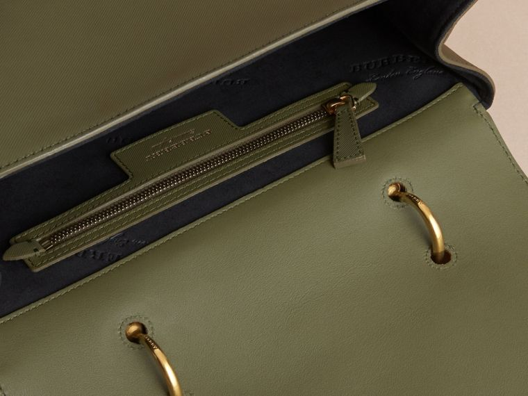The Large DK88 Top Handle Bag in Moss Green - Women | Burberry - cell image 4