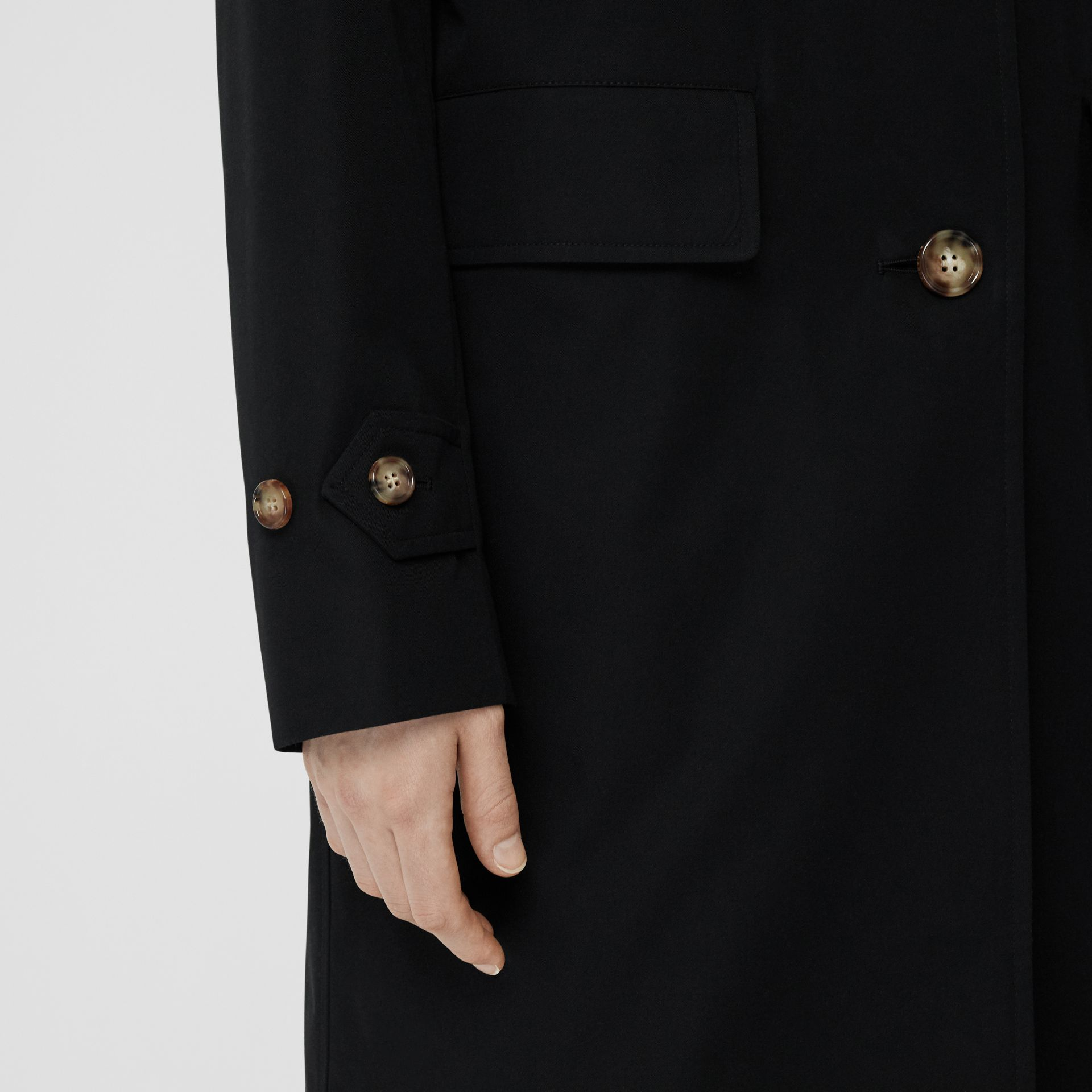 Cotton Gabardine Car Coat in Black - Women | Burberry - gallery image 1