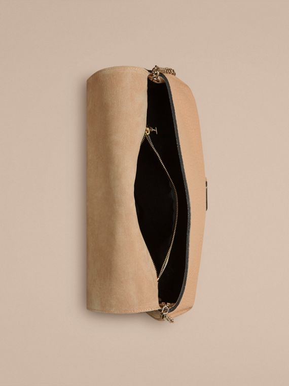 Pale apricot Medium Signature Grain Leather Clutch Bag Pale Apricot - cell image 3
