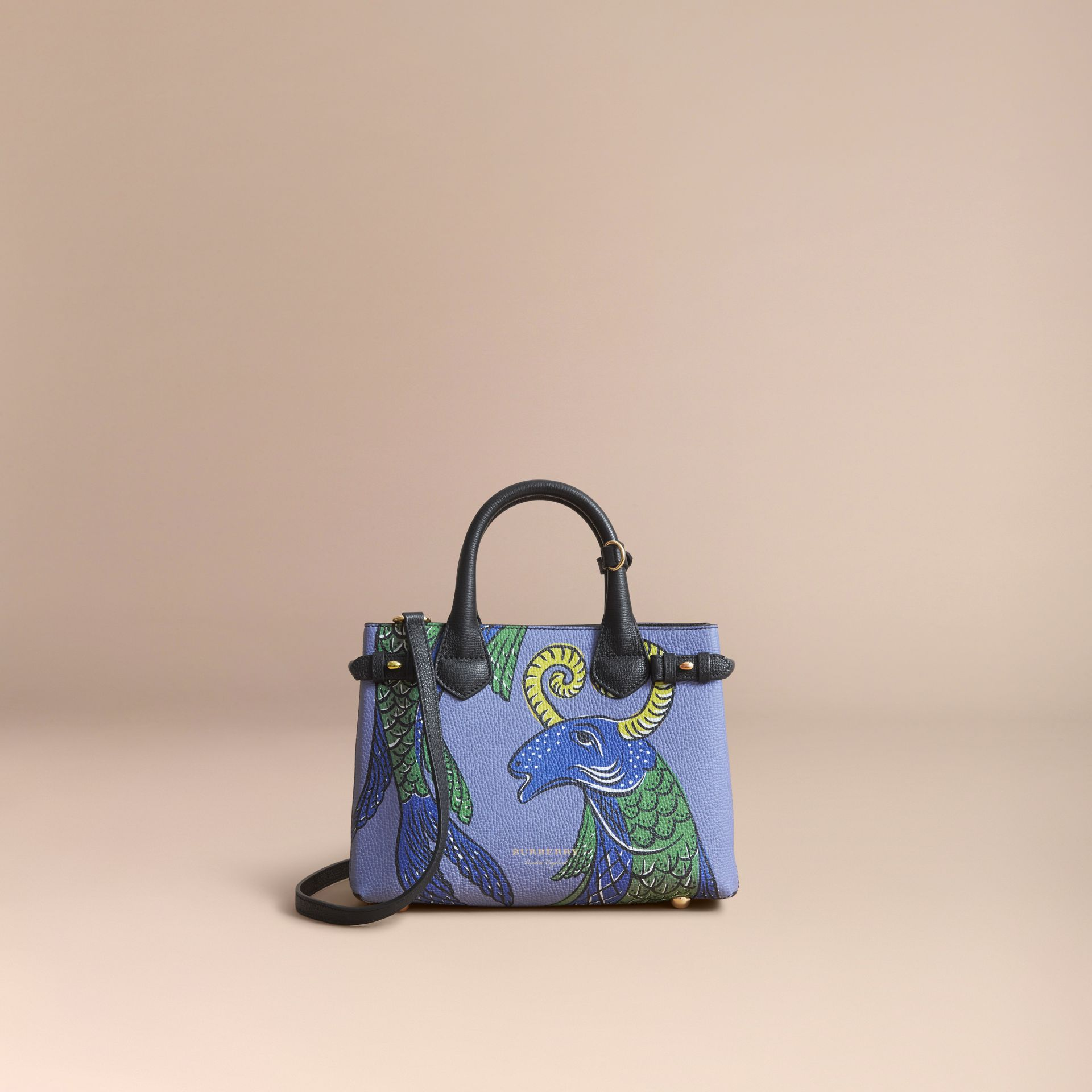 The Small Banner in Beasts Print Leather - Women | Burberry Australia - gallery image 8