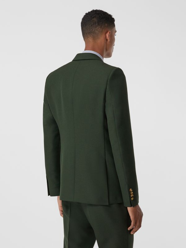 English Fit Wool Mohair Tailored Jacket in Dark Forest Green - Men | Burberry United Kingdom - cell image 2