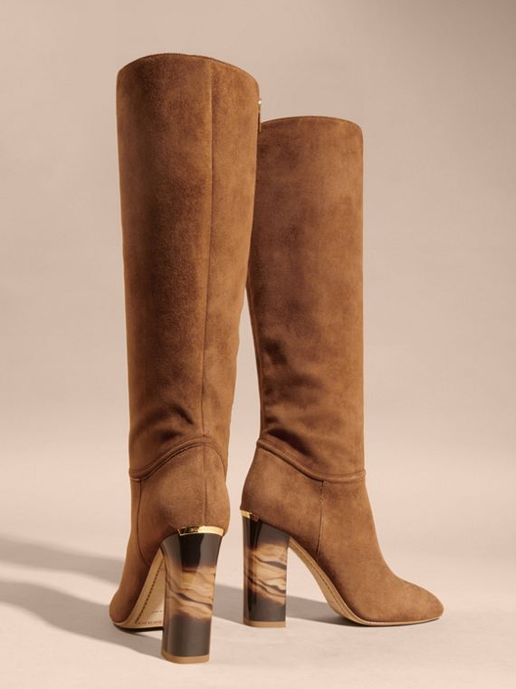 Clove brown Suede Knee-high Boots - cell image 3