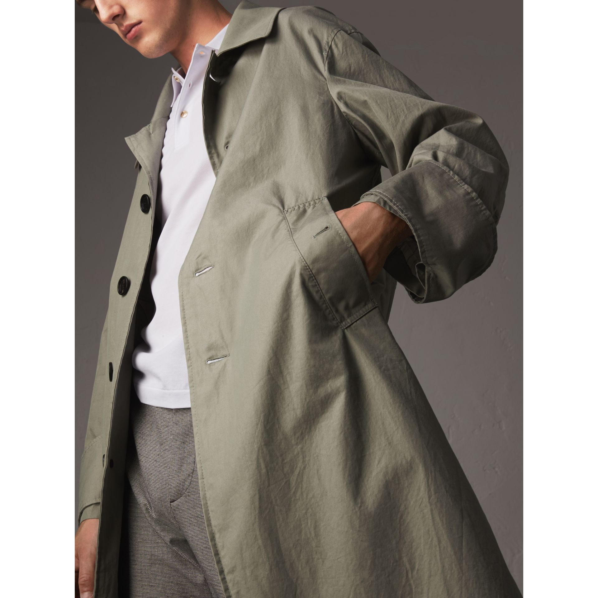 Unisex Tropical Gabardine Car Coat with Exaggerated Cuffs - Men | Burberry - gallery image 2