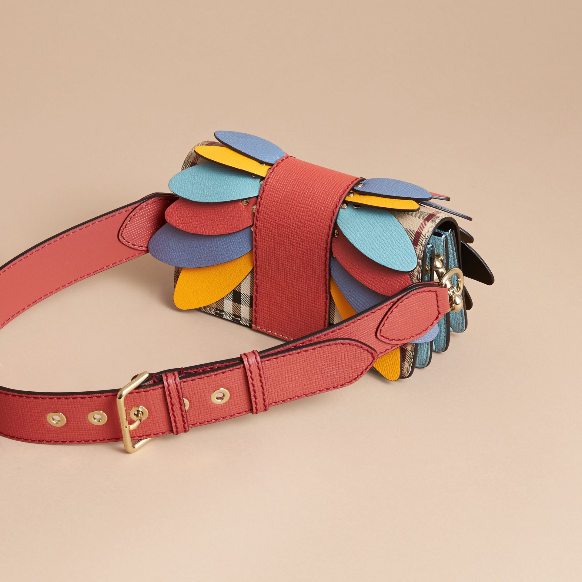 The Small Buckle Bag in Haymarket Check and Leather - Women | Burberry - gallery image 5