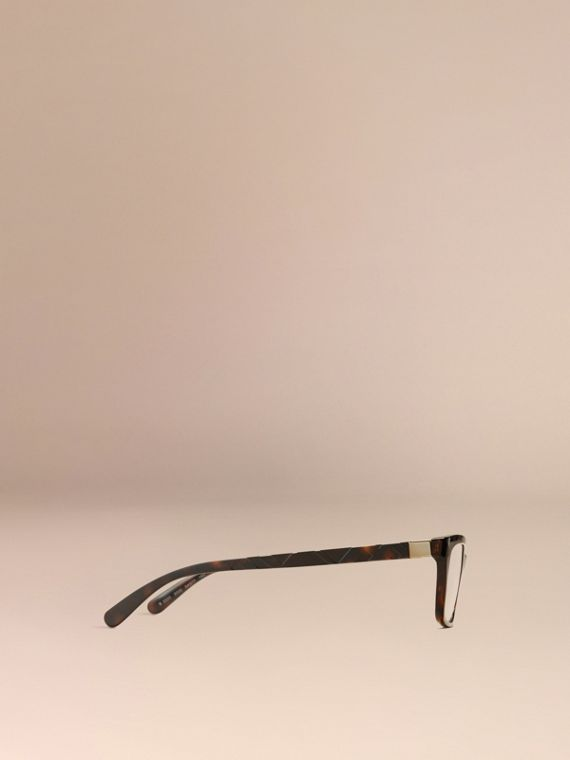 Tortoiseshell Check Detail Rectangular Optical Frames Tortoiseshell - cell image 3
