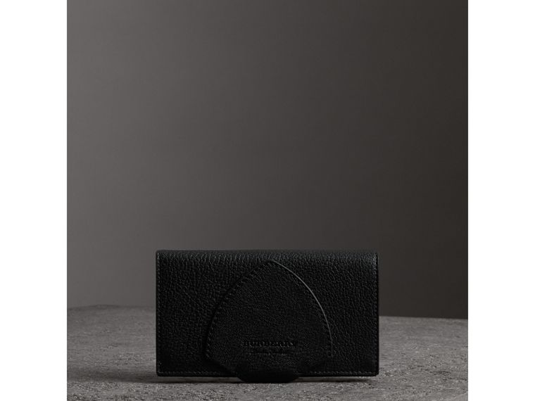 Equestrian Shield Two-tone Leather Continental Wallet in Black - Women | Burberry Canada - cell image 4