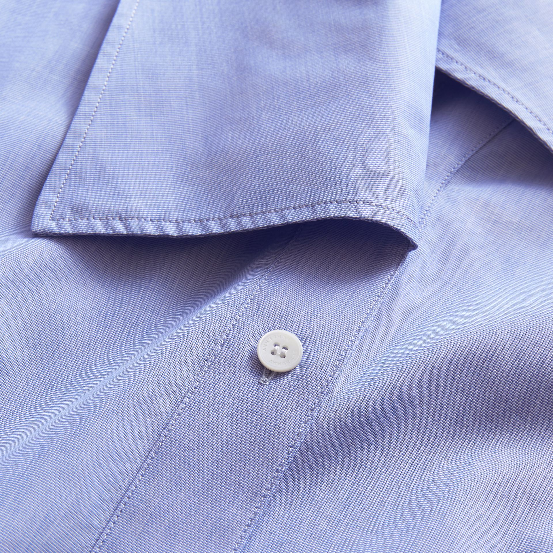 Ruffle Detail Cotton Shirt - gallery image 2