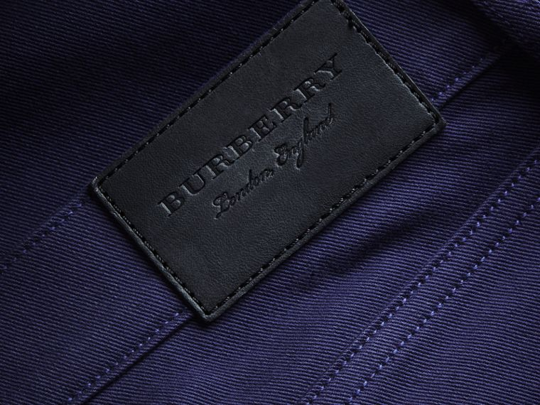Slim Fit Stretch Japanese Denim in Bright Navy Blue - Men | Burberry - cell image 1