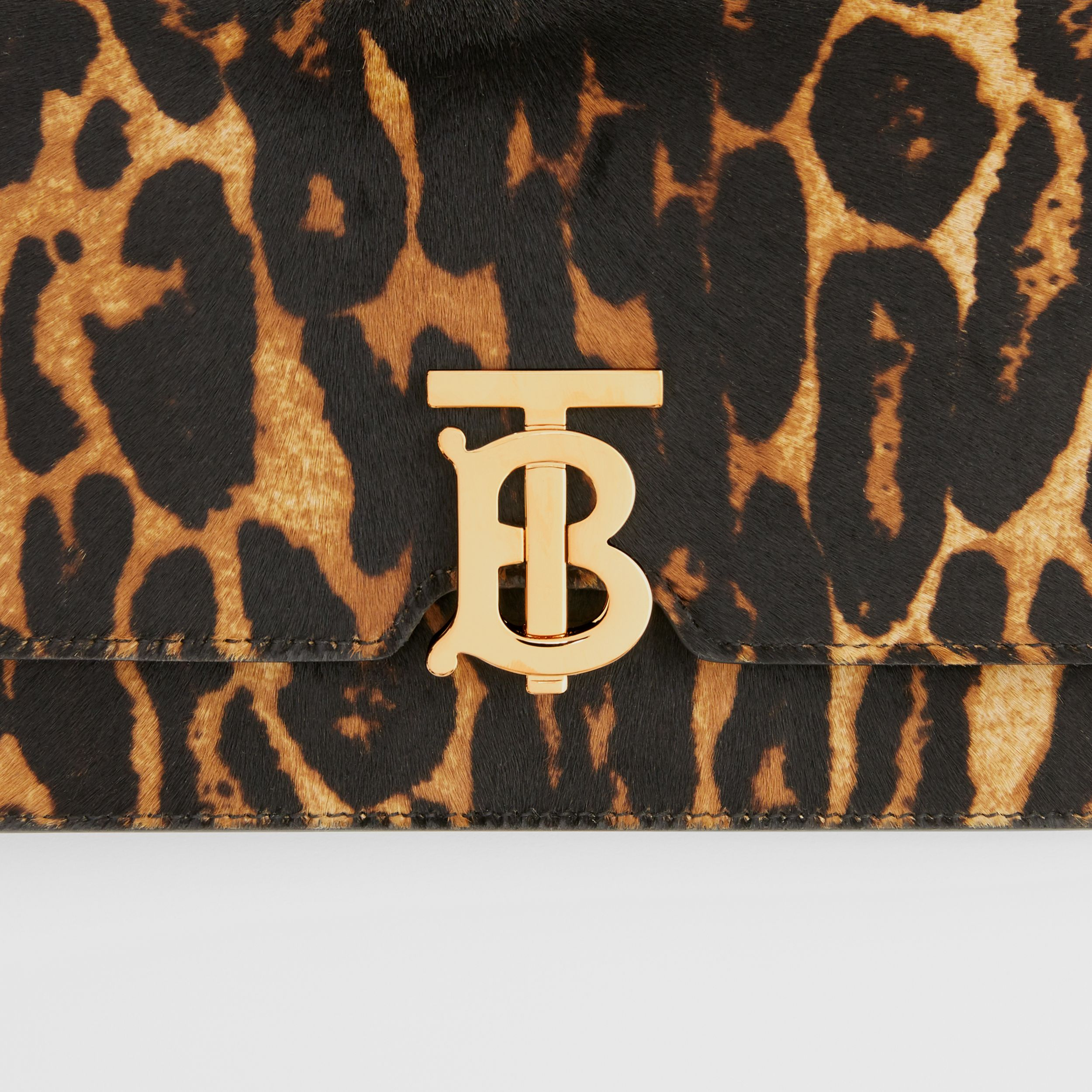 Small Leopard Print Calf Hair Shoulder Bag in Dark Mustard - Women | Burberry United States - 2