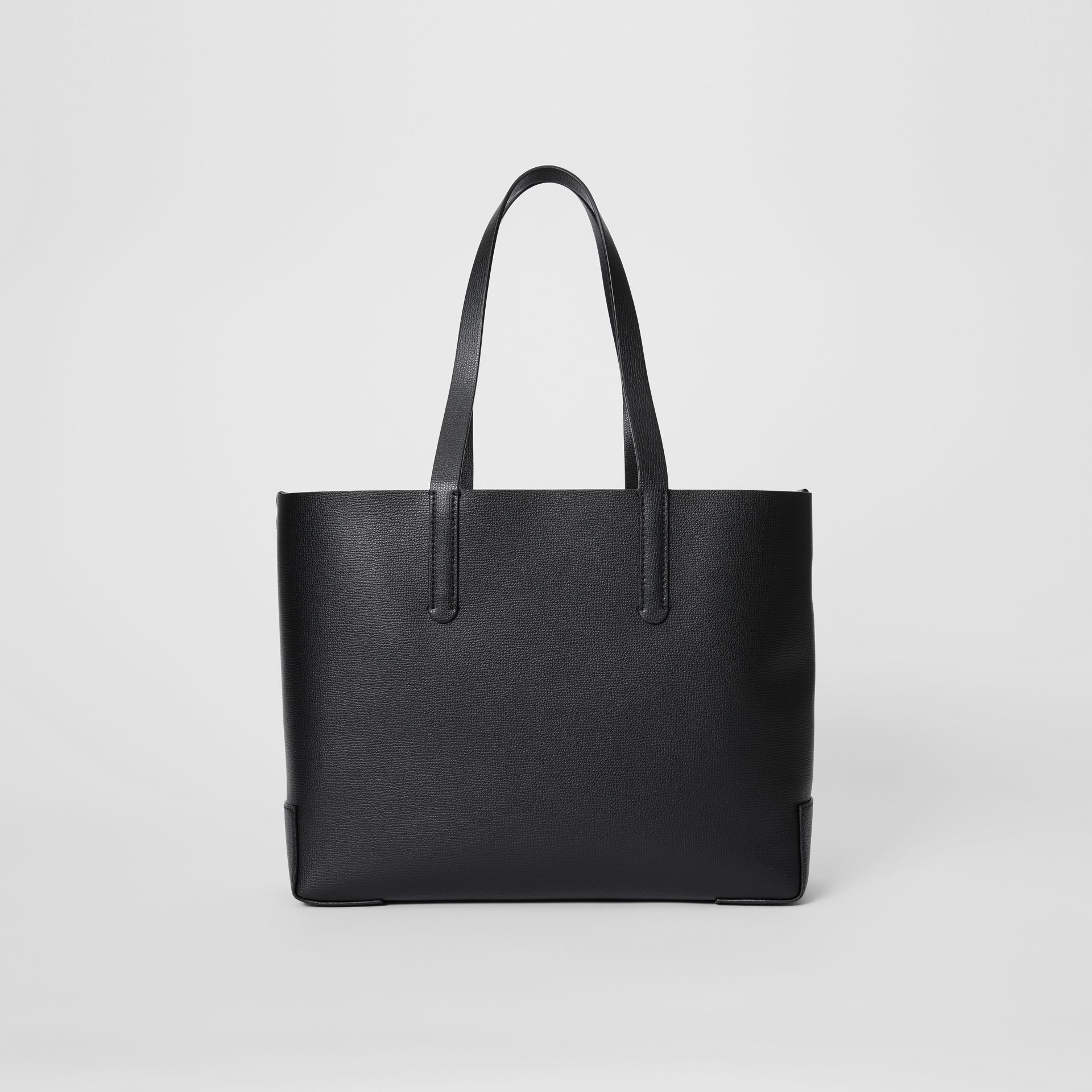 Embossed Monogram Motif Leather Tote in Black - Women | Burberry - gallery image 7