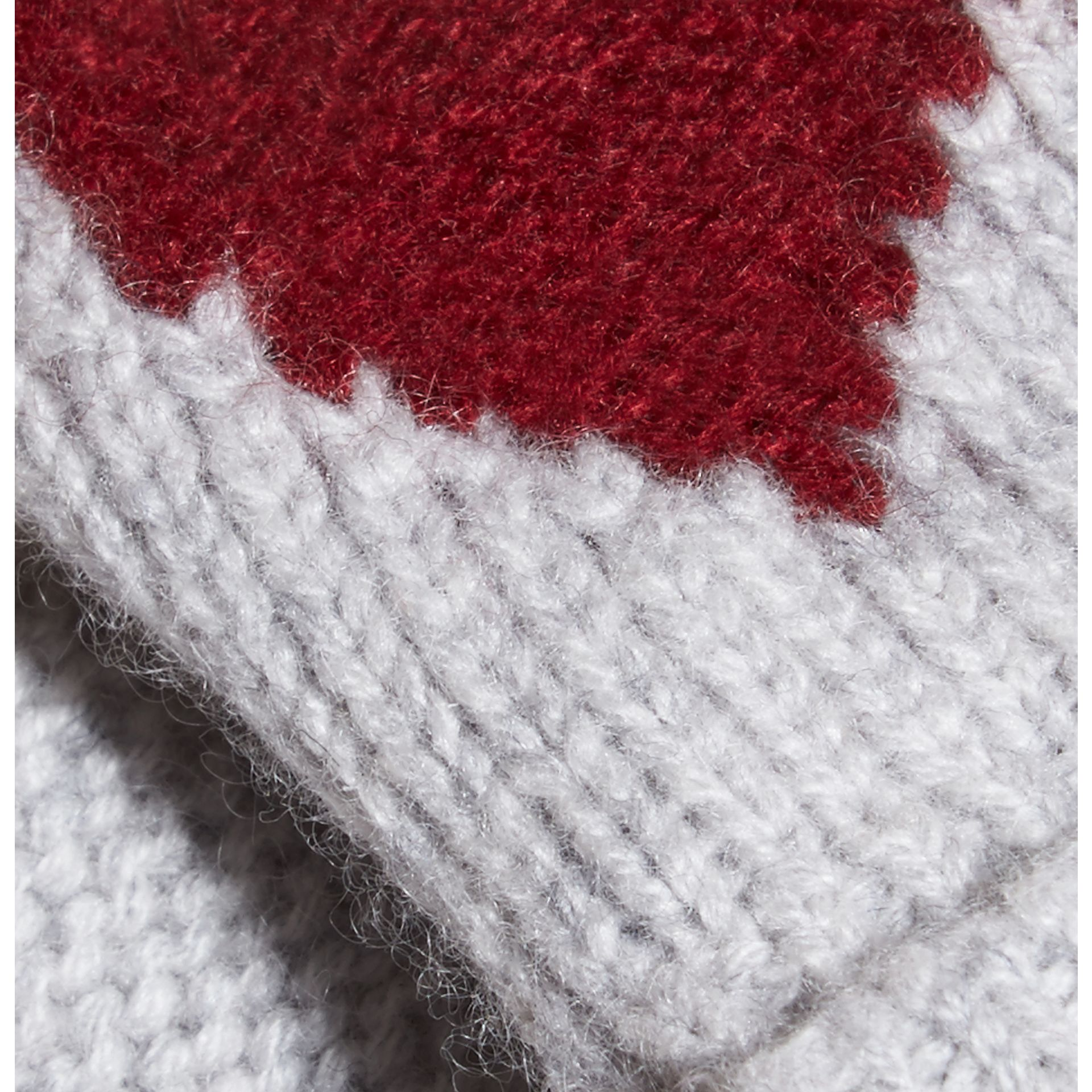 Heart Intarsia Cashmere Mittens - gallery image 2