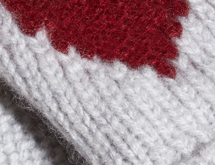 Heart Intarsia Cashmere Mittens - cell image 1