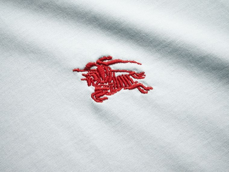 Cotton Jersey T-shirt in Pale Opal Blue - Men | Burberry - cell image 1
