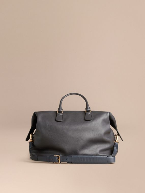 Charcoal Grainy Leather Holdall Charcoal - cell image 3