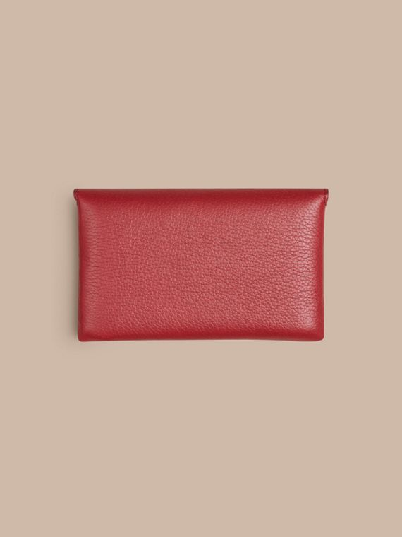 Wooden Domino Set with Grainy Leather Case in Parade Red | Burberry - cell image 3