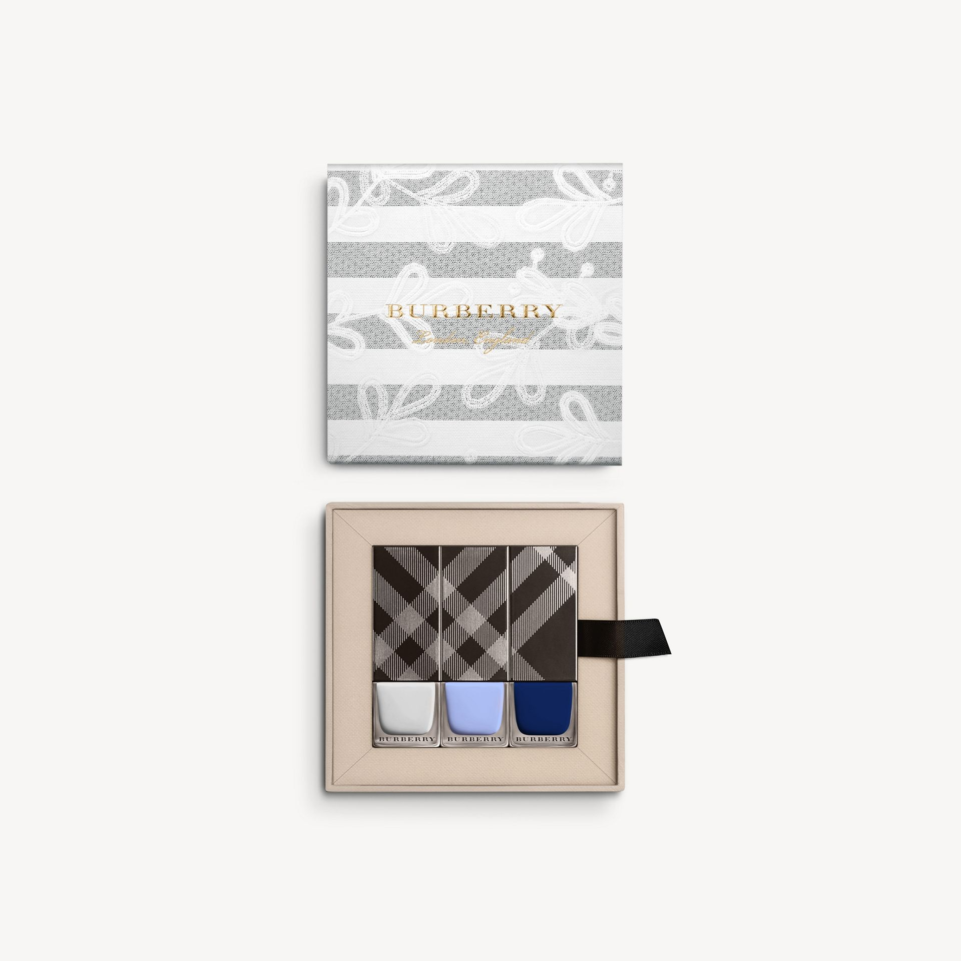 Runway Nails – Limited Edition in Mist Grey/sky Blue/indigo - Women | Burberry - gallery image 1