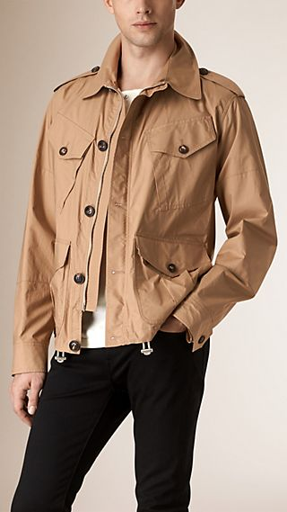 Check Detail Cotton Field Jacket