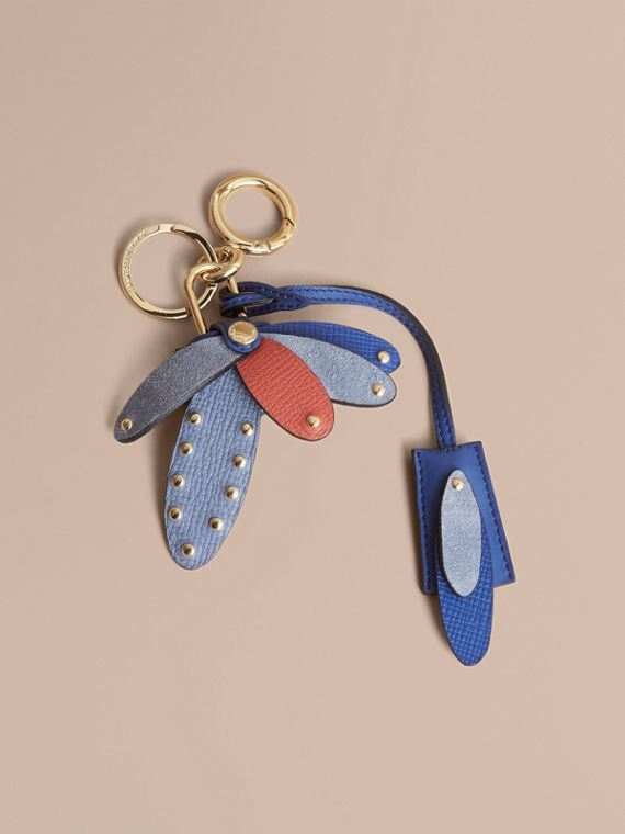 Beasts Leather Key Charm and Padlock in Hydrangea Blue