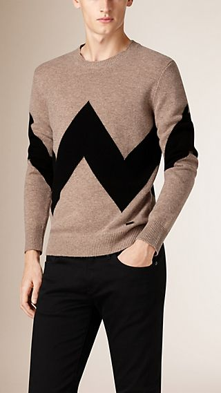 Graphic Wool Cashmere Sweater