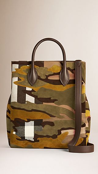 Sac The Carryall à imprimé camouflage et motif Canvas check
