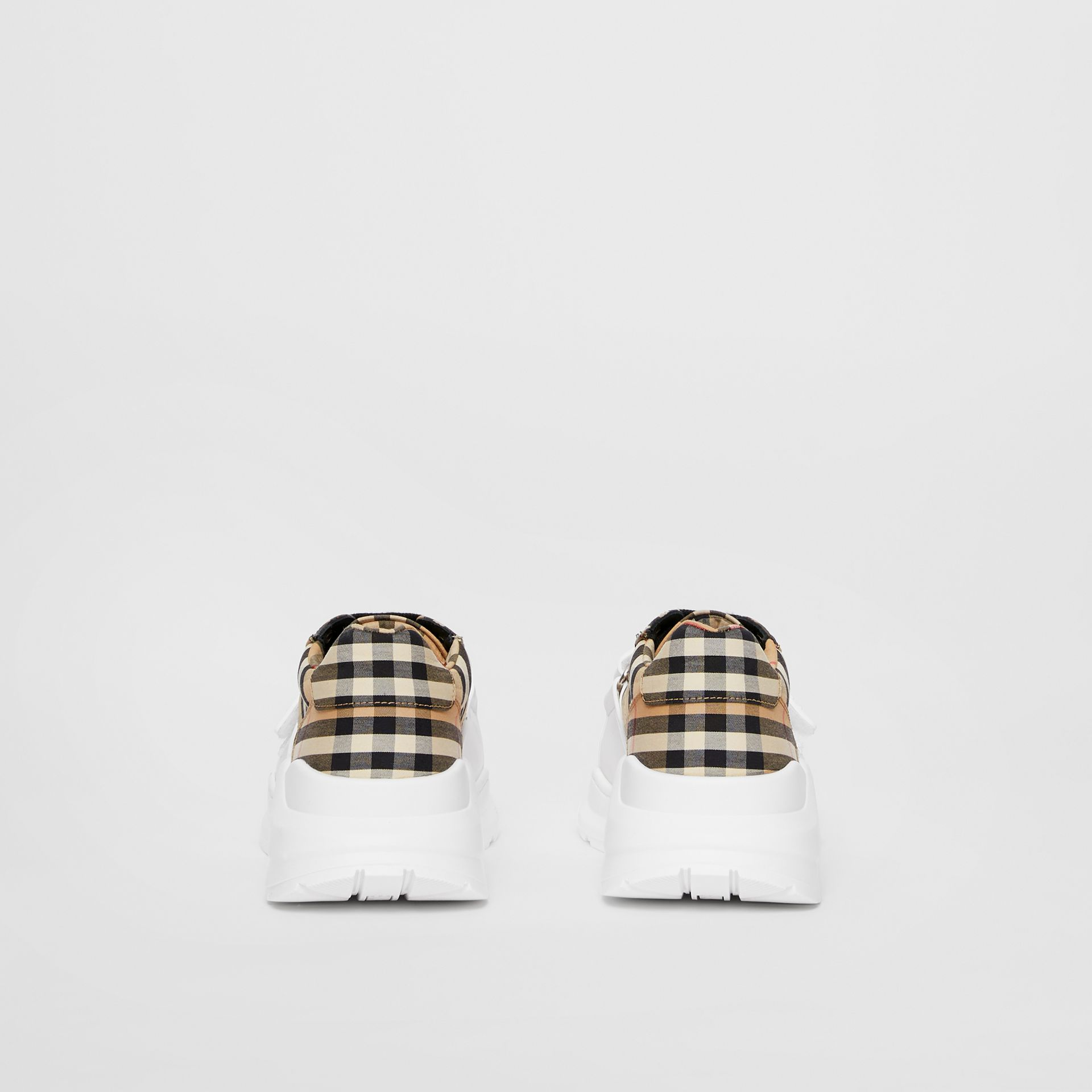 Vintage Check Cotton Sneakers in Archive Beige - Women | Burberry United Kingdom - gallery image 4