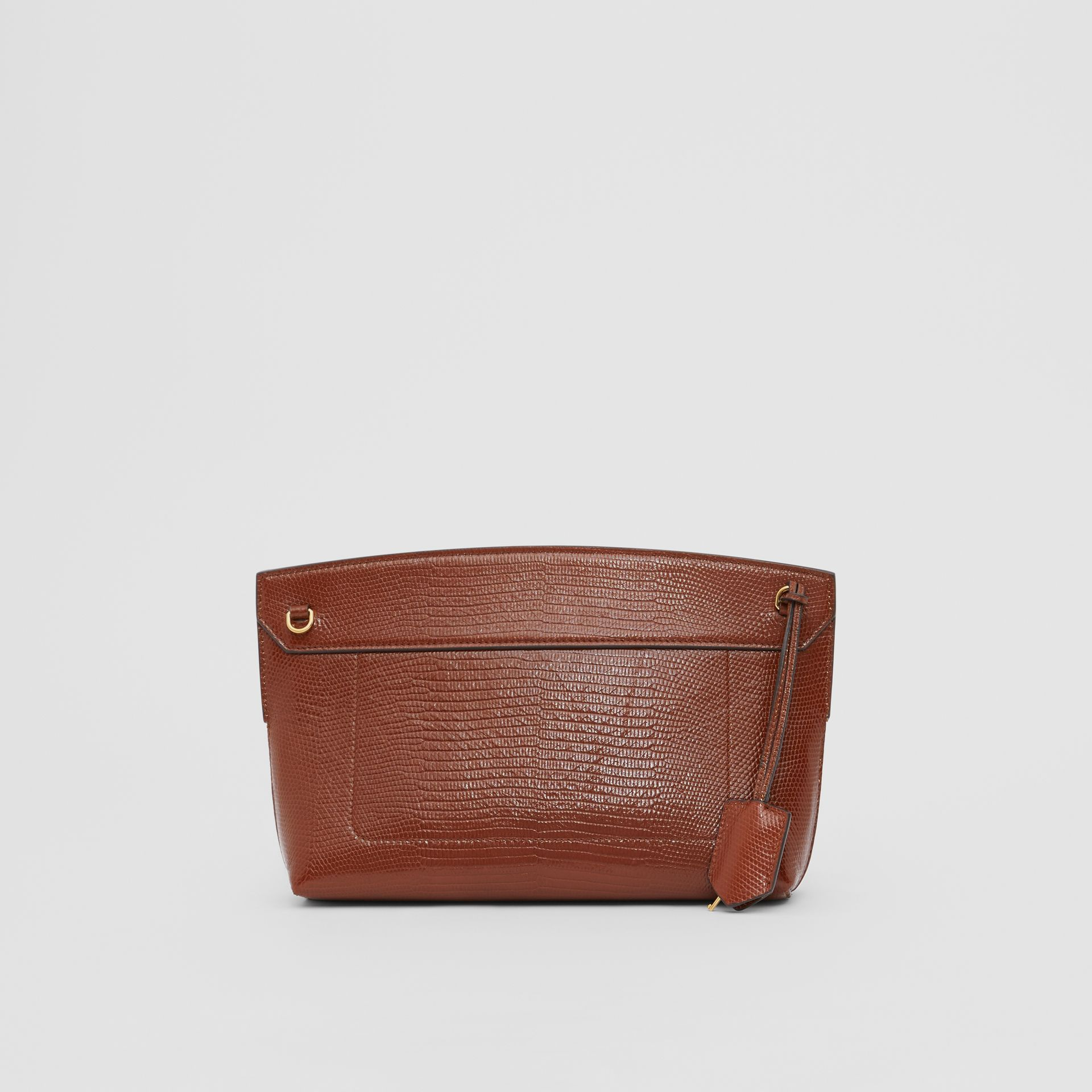 Embossed Deerskin Society Clutch in Tan - Women | Burberry - gallery image 5
