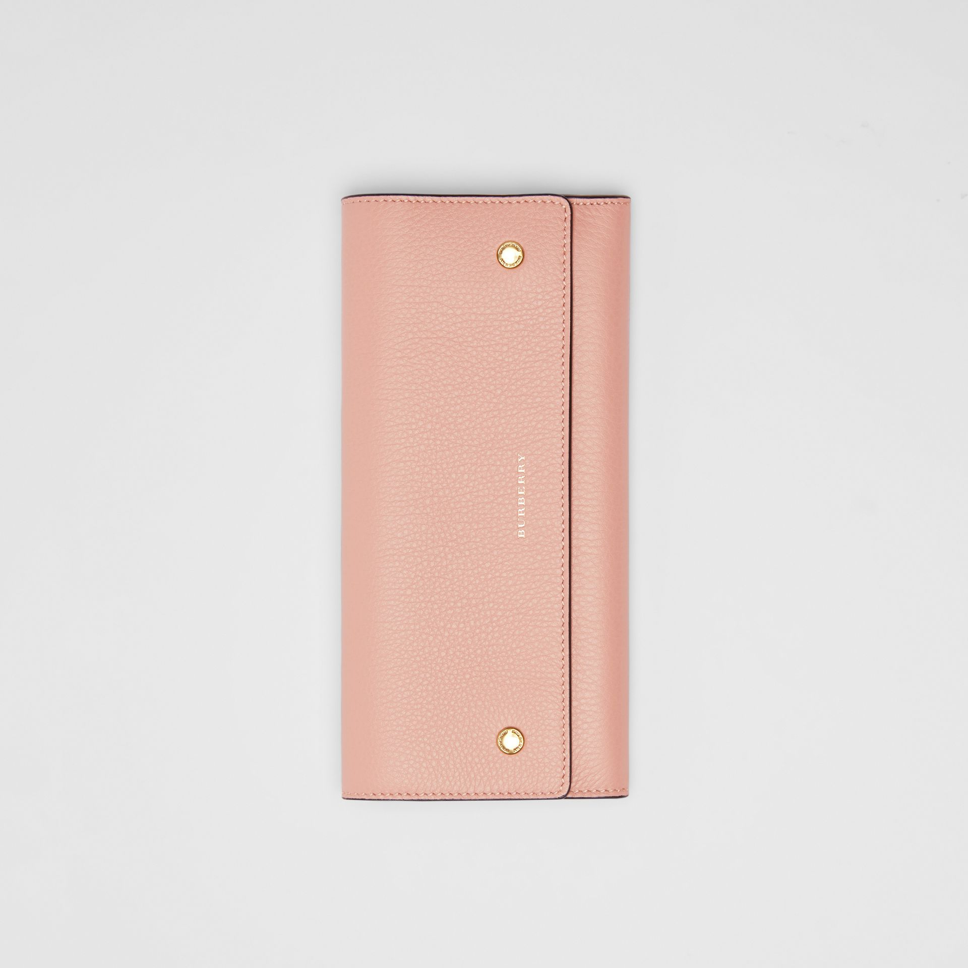 Leather Continental Wallet in Ash Rose - Women | Burberry Canada - gallery image 3