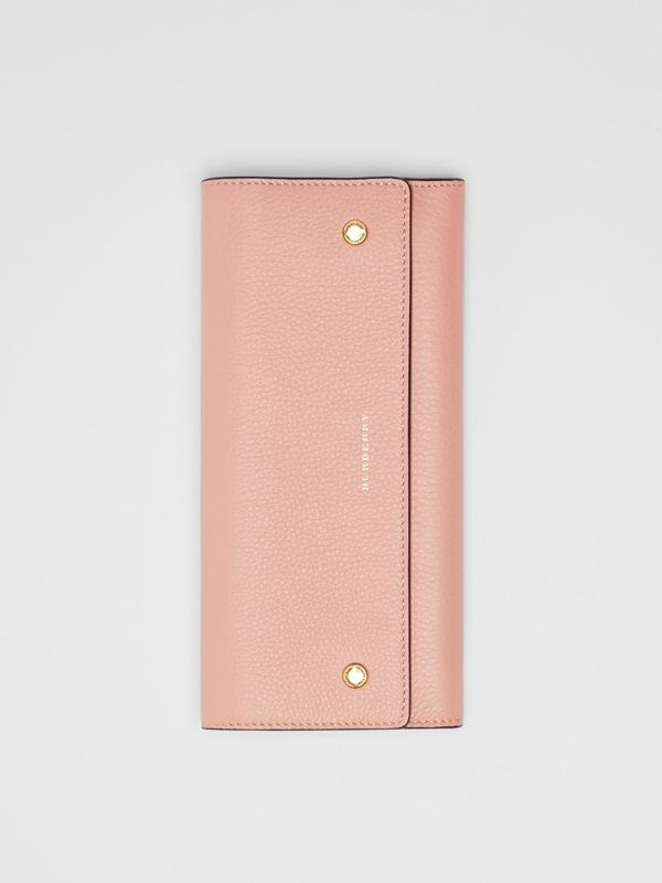 Leather Continental Wallet in Ash Rose - Women | Burberry United Kingdom - cell image 3