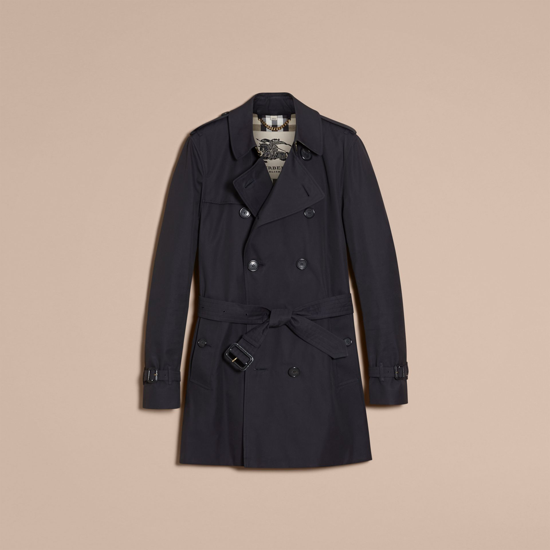 Navy The Kensington – Mid-length Heritage Trench Coat Navy - gallery image 4