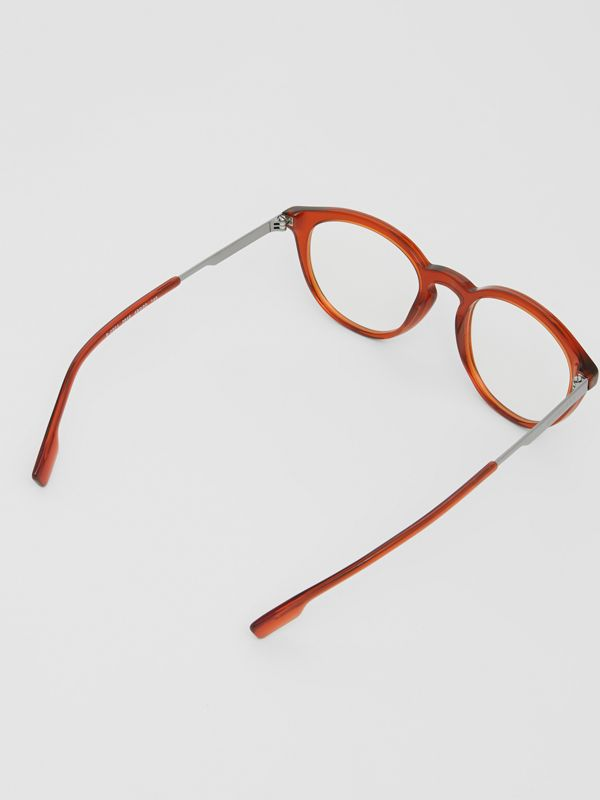 Round Optical Frames in Amber - Men | Burberry - cell image 3