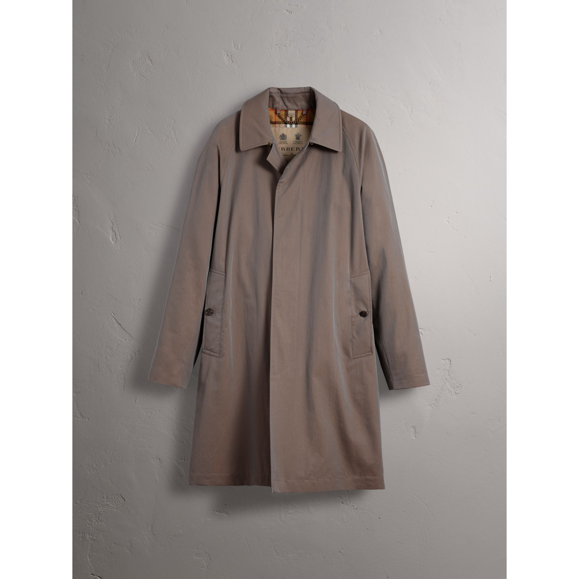 The Camden – Car Coat long (Gris Lilas) - Homme | Burberry - photo de la galerie 4