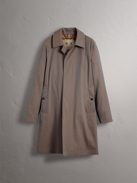 The Camden – Long Car Coat in Lilac Grey - Men | Burberry Singapore - cell image 3