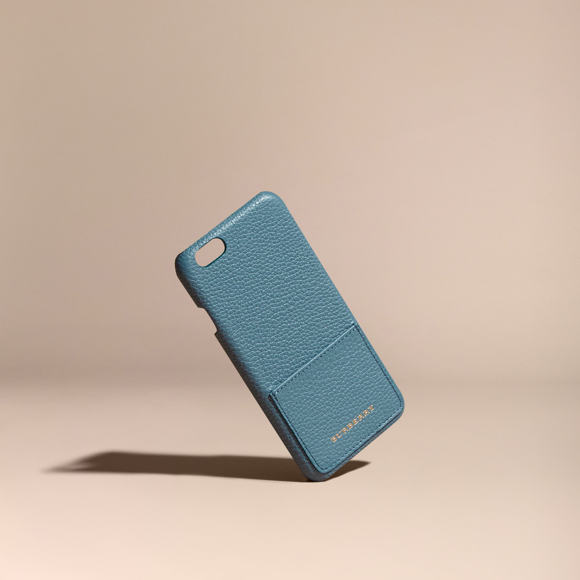 Grainy Leather iPhone 6 Case in Dusty Teal - gallery image 1
