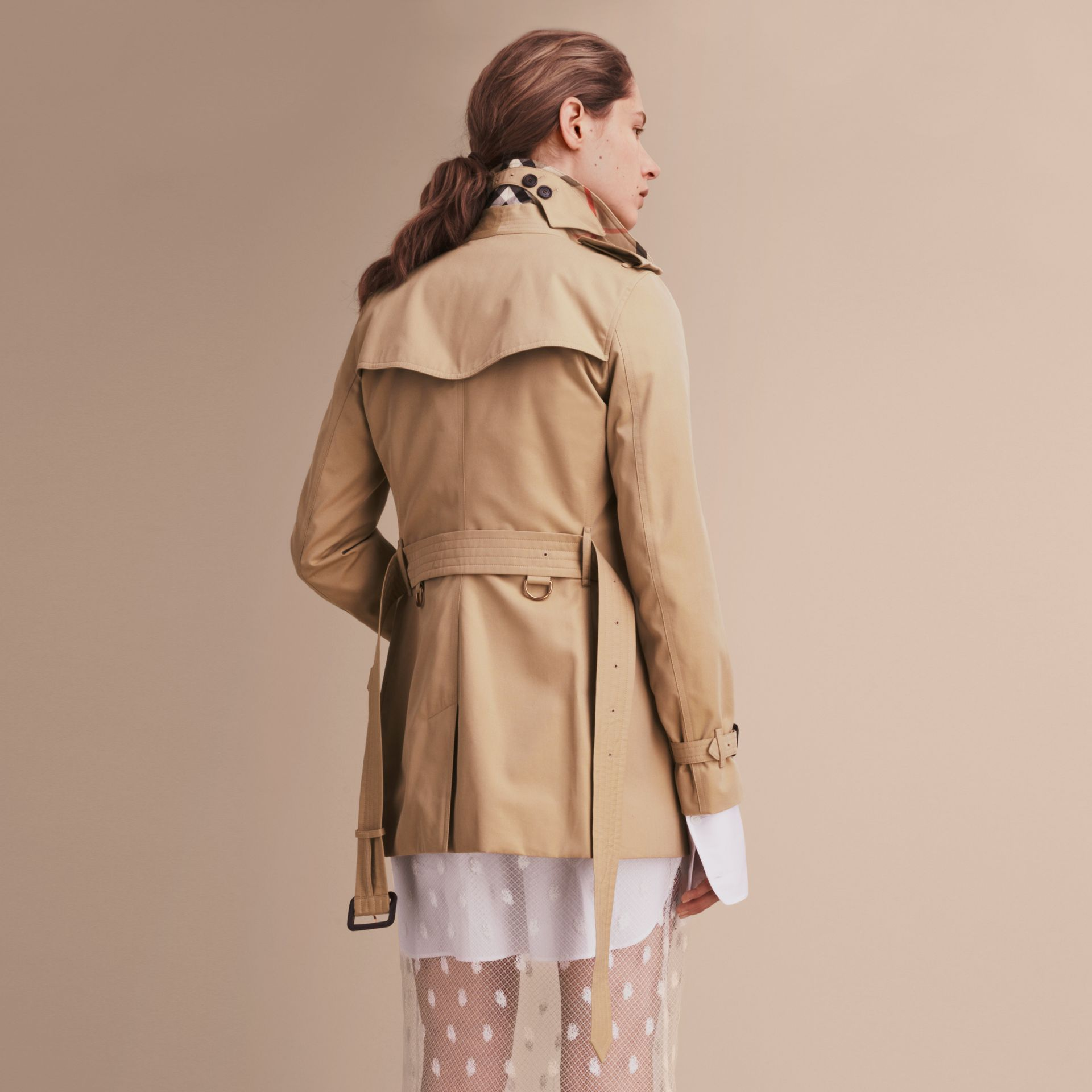 Honey The Kensington – Short Heritage Trench Coat Honey - gallery image 4