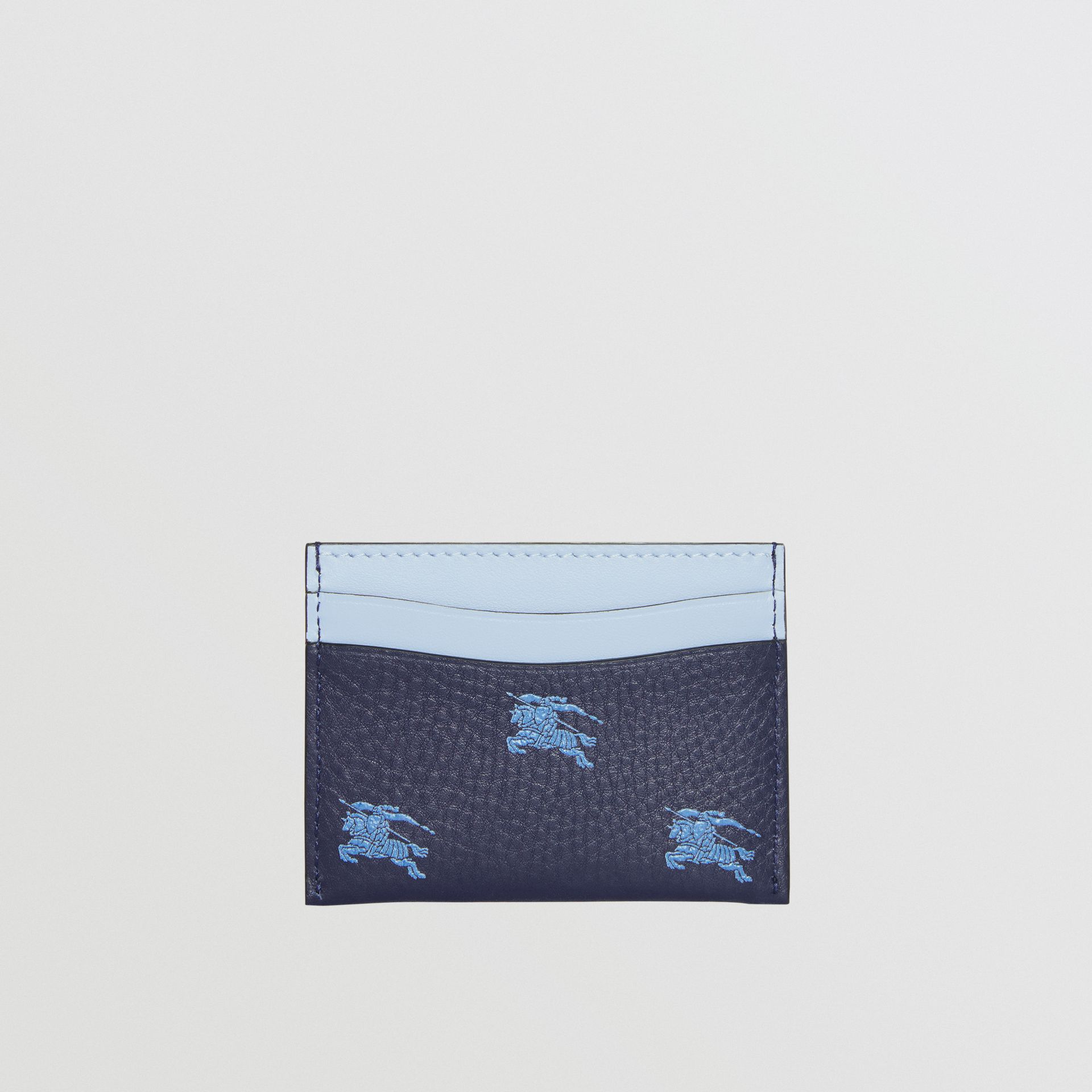 EKD Leather Card Case in Regency Blue - Women | Burberry - gallery image 4