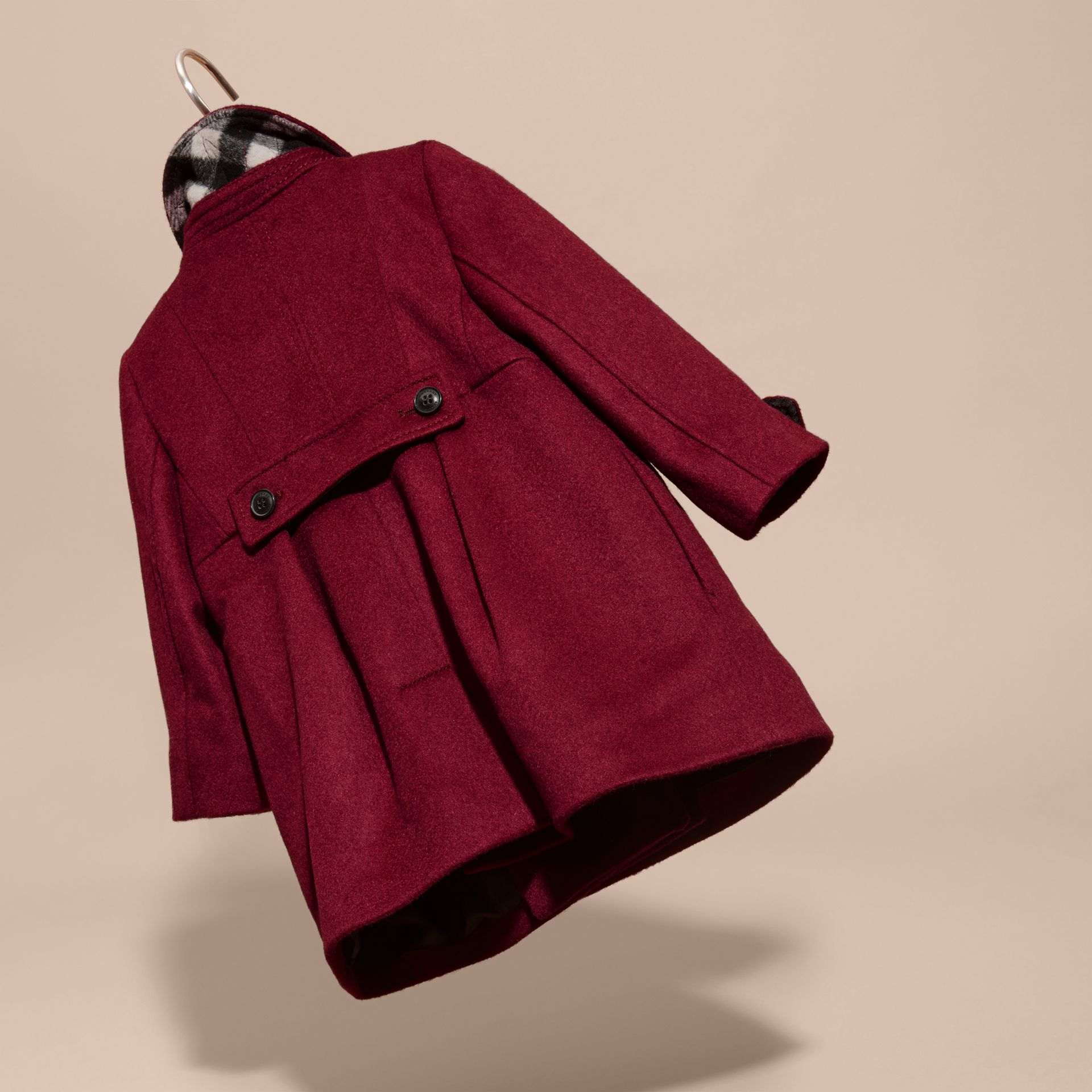 Cherry pink Tailored Cashmere Coat Cherry Pink - gallery image 4
