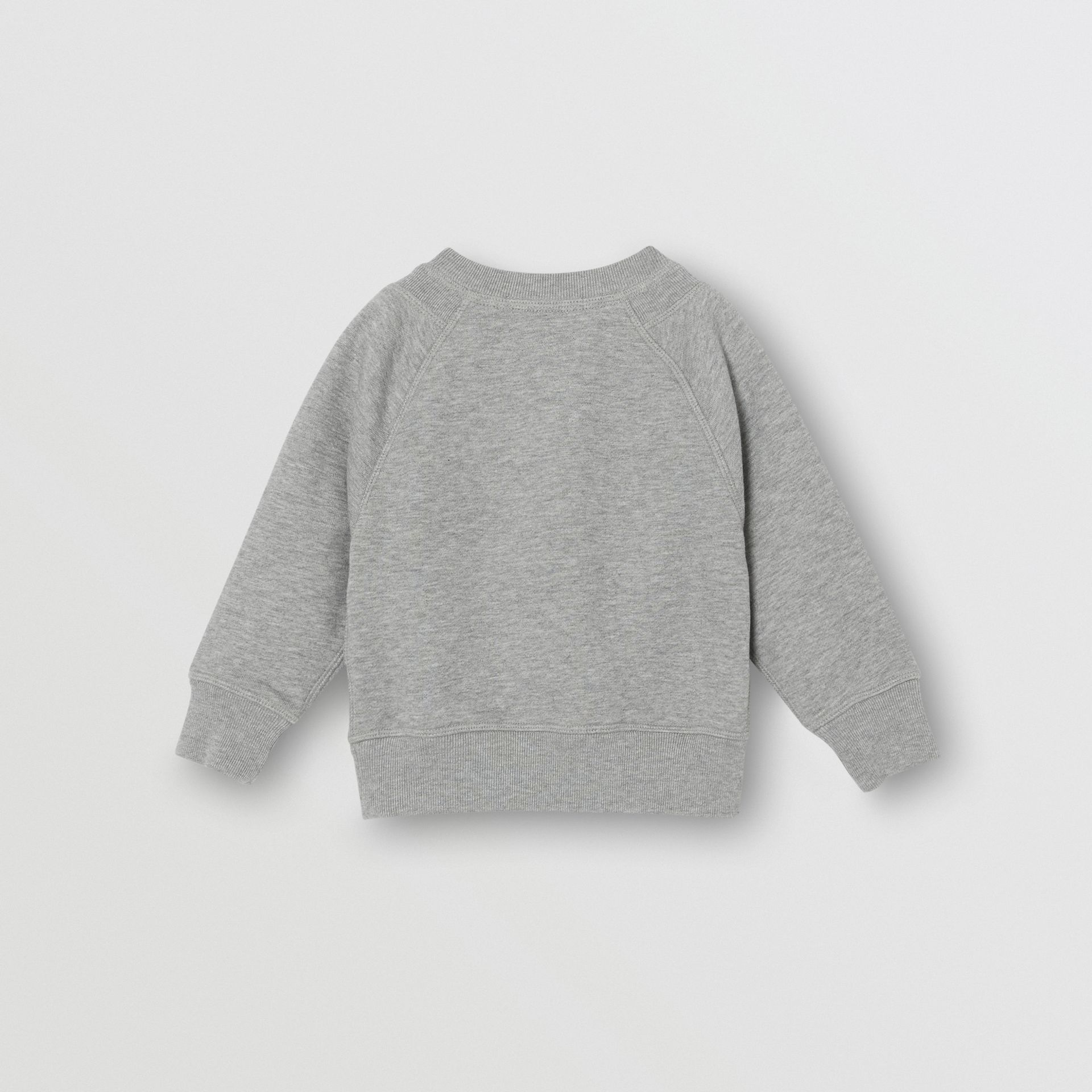 Logo Detail Cotton Sweatshirt in Grey Melange - Children | Burberry - gallery image 3