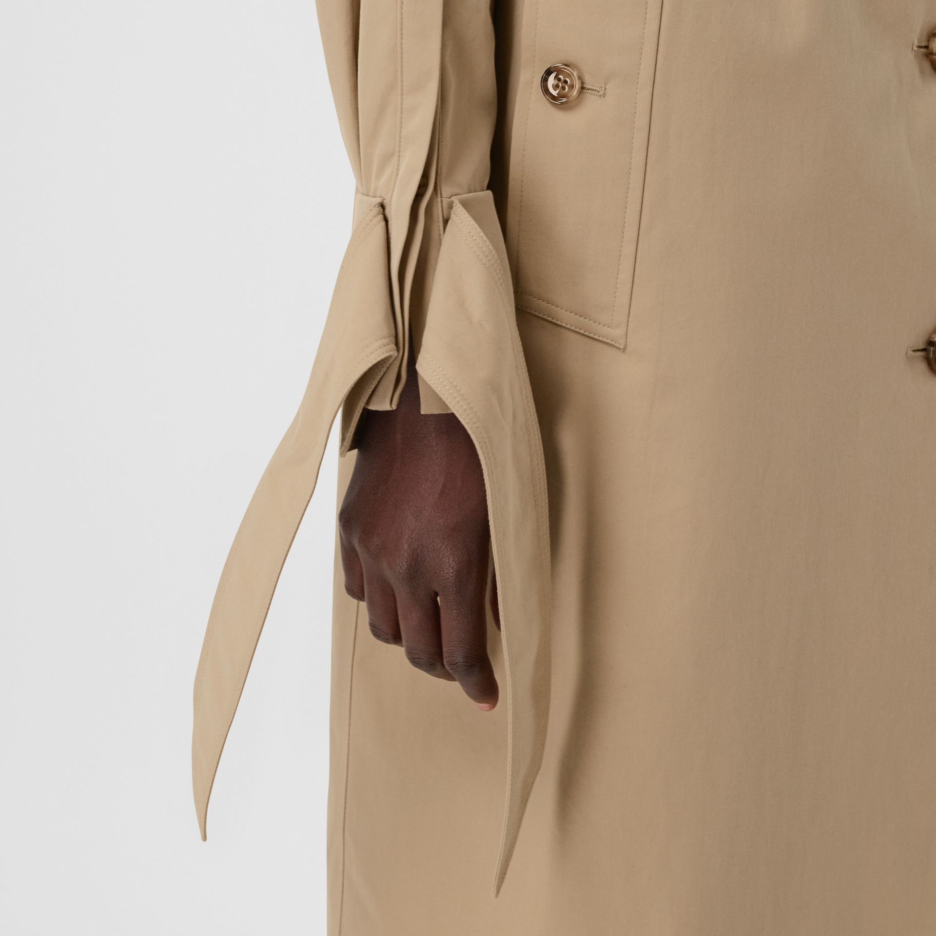 Tropical Gabardine Car Coat in Honey - Women | Burberry - gallery image 4