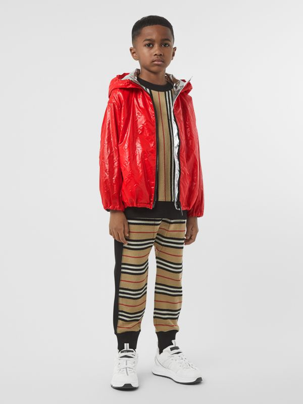 Logo Print Lightweight Hooded Jacket in Bright Red | Burberry United States - cell image 2