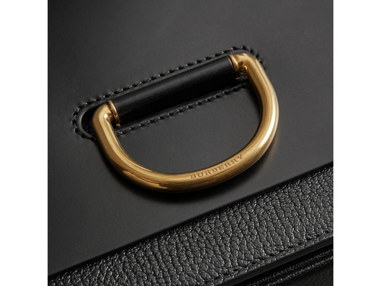 The D-ring 中型皮革包 (黑色) - 女款 | Burberry - cell image 1