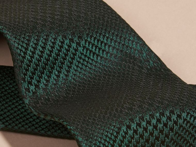 Racing green Modern Cut Check Silk Tie Racing Green - cell image 1