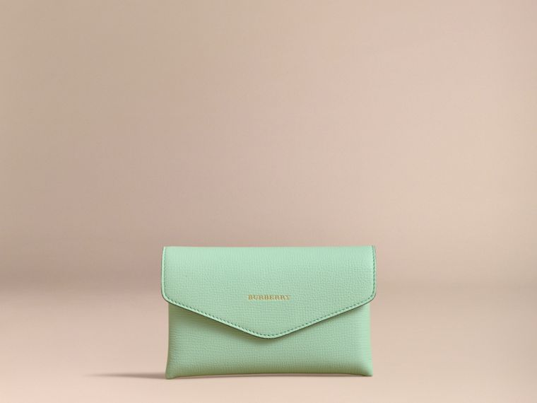 Wooden Domino Set with Grainy Leather Case in Light Mint - Women | Burberry Australia - cell image 4