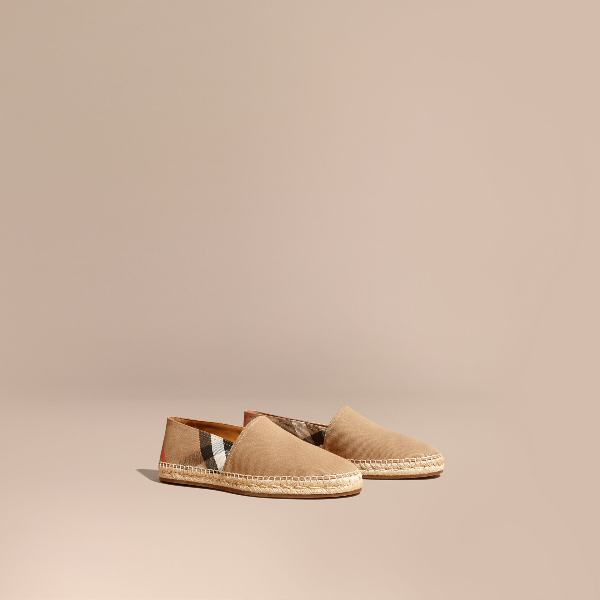 Canvas Check Espadrilles - Men | Burberry - gallery image 1