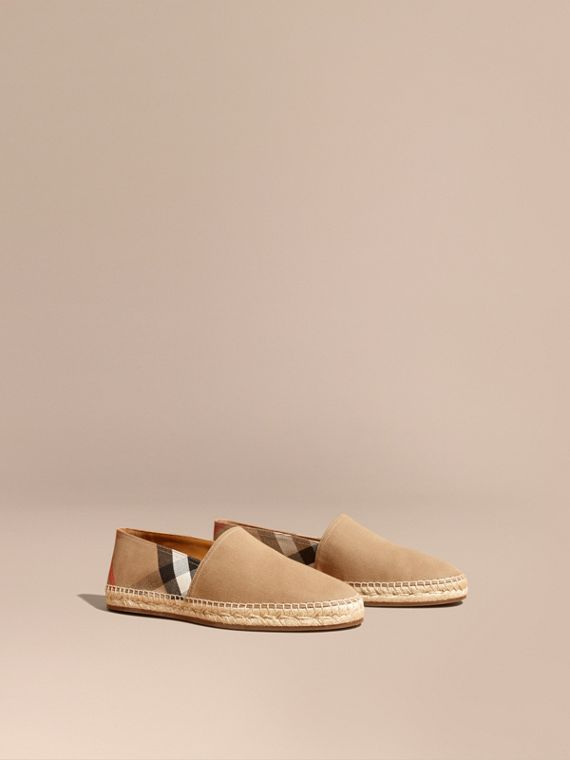 Espadrillas con motivo Canvas check - Uomo | Burberry