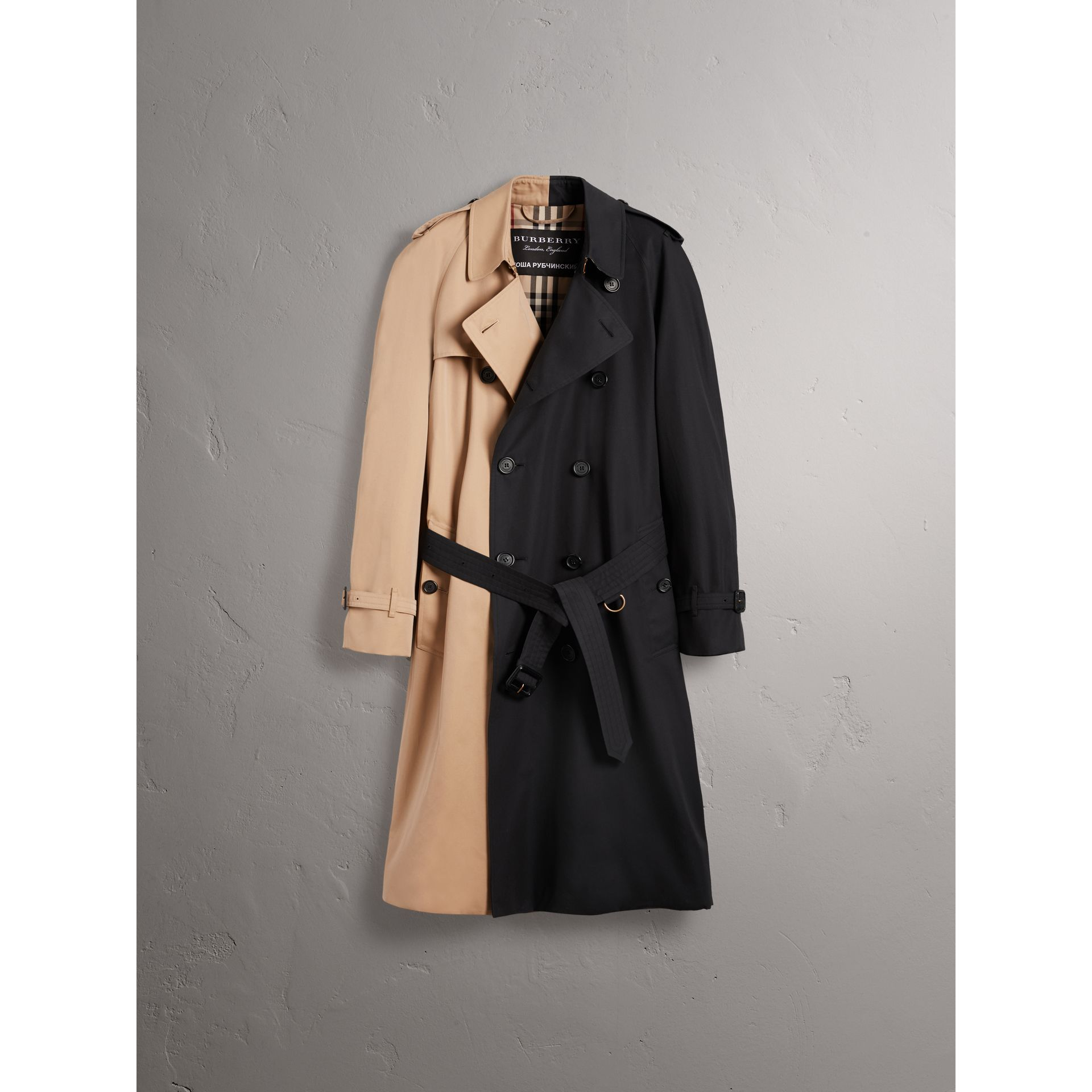 Gosha x Burberry Two-tone Trench Coat in Honey | Burberry - gallery image 4